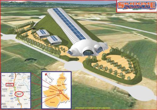 Piemonte entro il 2012 arriva il primo ski dome per for Piani di casa con campo sportivo al coperto