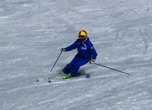 Federico durante lo Ski Test Head