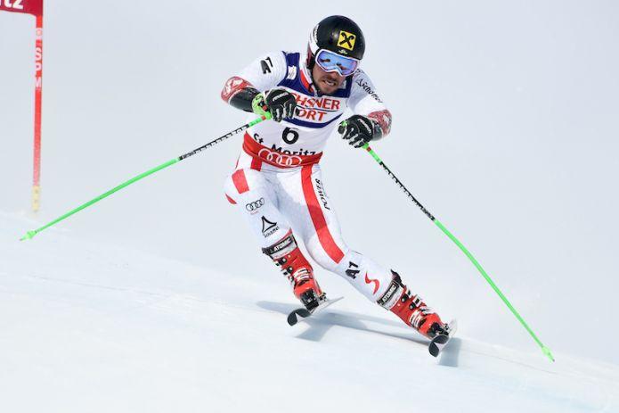 Terzo oro mondiale per Marcel Hirscher che trionfa nel gigante di St. Moritz