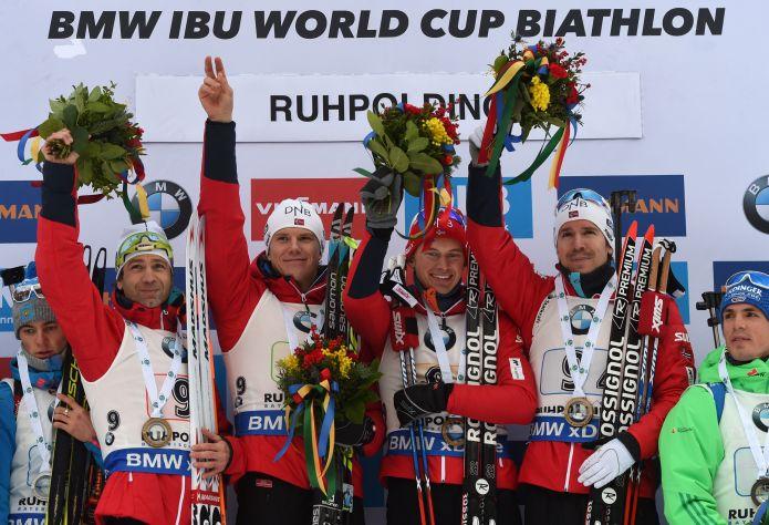 Finale da infarto nella staffetta maschile di Ruhpolding: la Norvegia brucia la Russia!