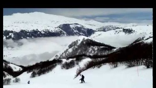 snowboarding with my friends at Ovindoli Italy.