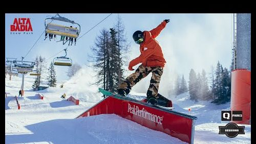 Snowpark Alta Badia: Snowboard Jibs into a new season - January 2015