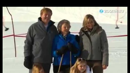 Dutch Royal Family Skiing Holiday in Lech, Austria 2015
