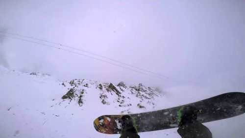 Verbier Snowboard crash
