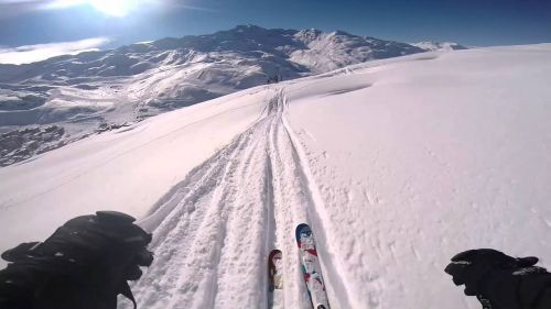 Skiing Val Thorens (off piste mainly)