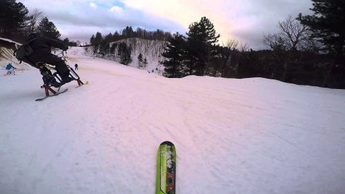Snowboard Freeride - Perfect path