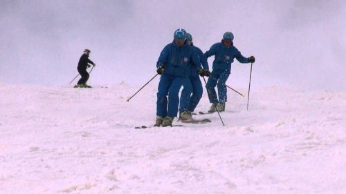 Skiing Between Boarders La Rosiere - La Thuile