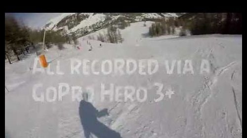 Sestriere (France/Italy) Ski mountains Snowboard GoPro POV Compilation 720p!