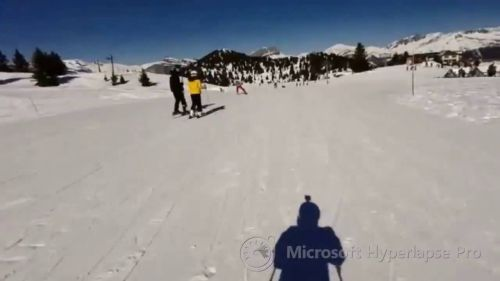 Les Houches Skiing Hyperlapse