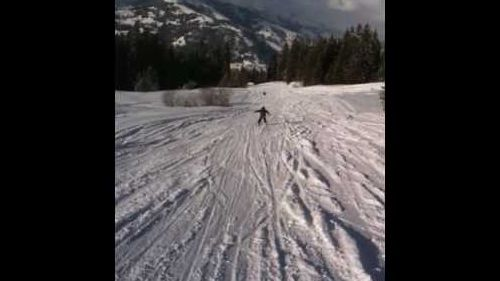 Ben skiing in Gstaad