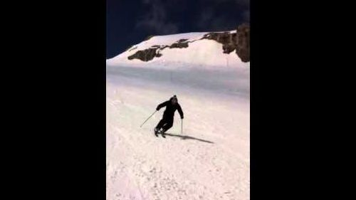 Me skiing in Gstaad Glacier 3000 Switzerland 2011