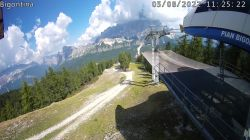 Webcam Bigontina vista Cristallo