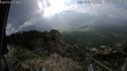 Webcam Centro Cortina vista da Faloria