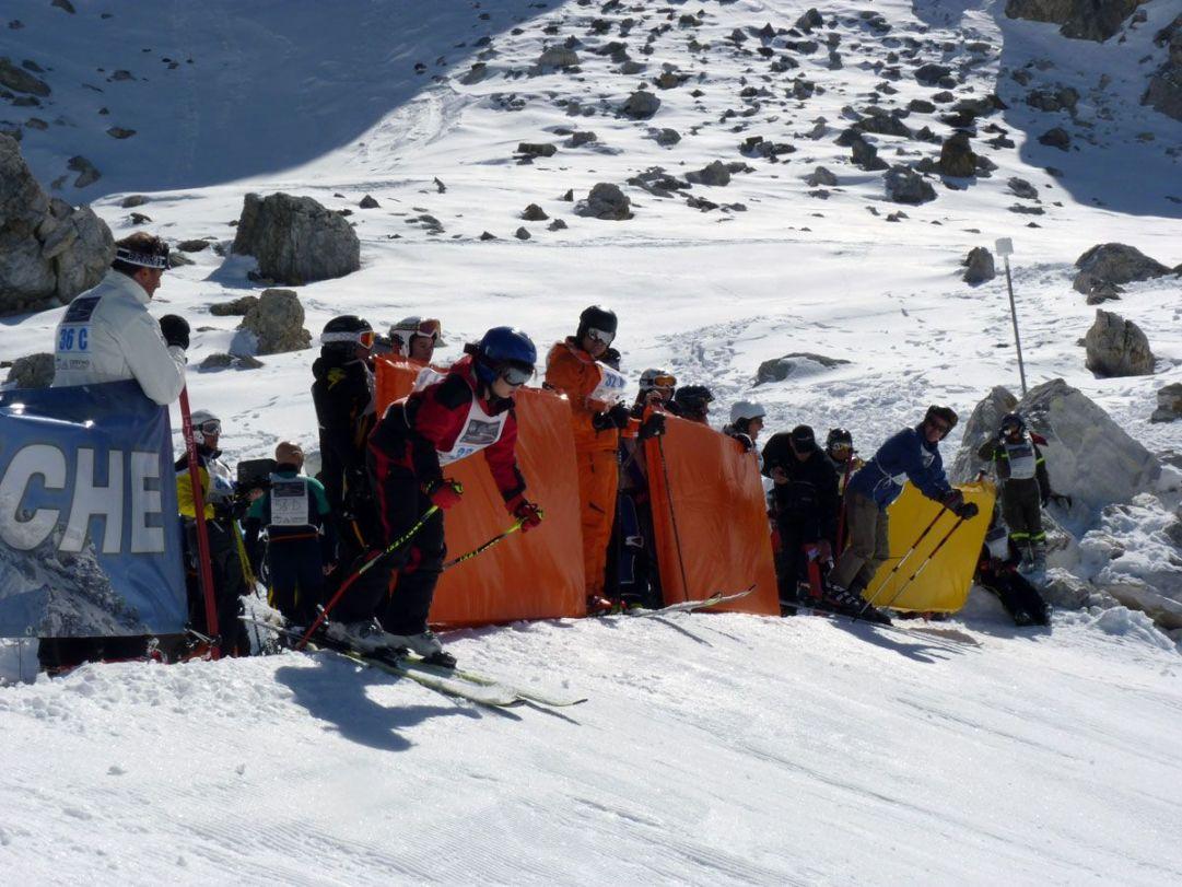 Una scena della partenza della gara di fine stagione   Reine Blanche