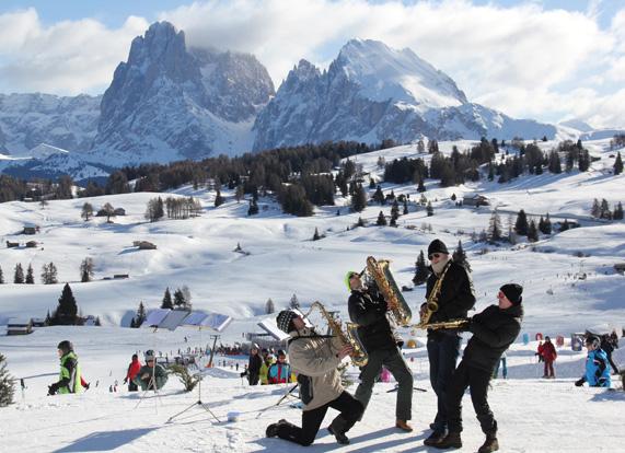 Swing On Snow. Dal 21 al 29 marzo all'Alpe di Siusi si scia a ritmo di musica