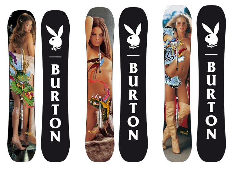 Le conigliette Playboy degli anni '70 e '80 sulle tavole Burton 2016
