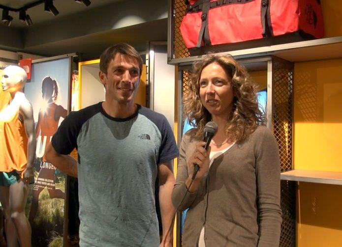 Intervista a Hervé Barmasse all'inaugurazione del The North Face store a Milano