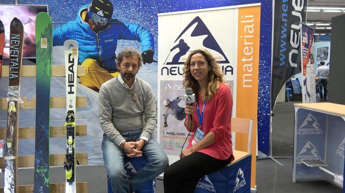 Corrado Maccio, nuovo presidente del Pool Sci Italia e uomo Head in diretta allo stand Neveitalia di Skipass