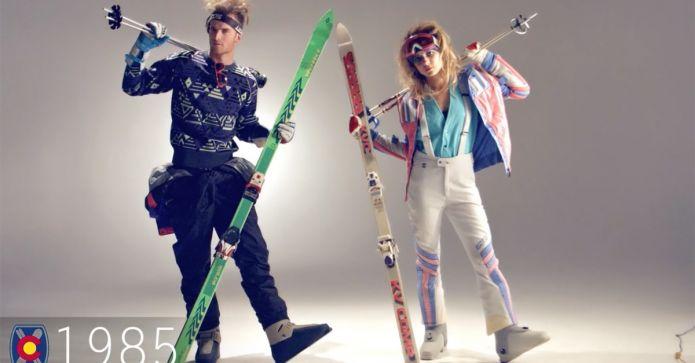 100 anni di moda nello sci in un video di 6 minuti