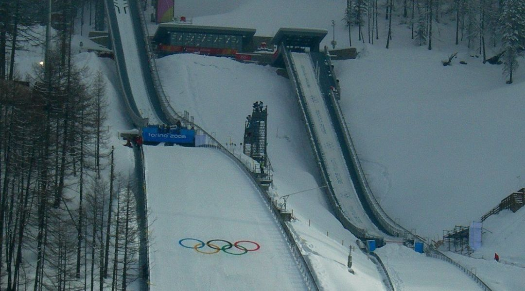 i trampolini durante le olimpiadi