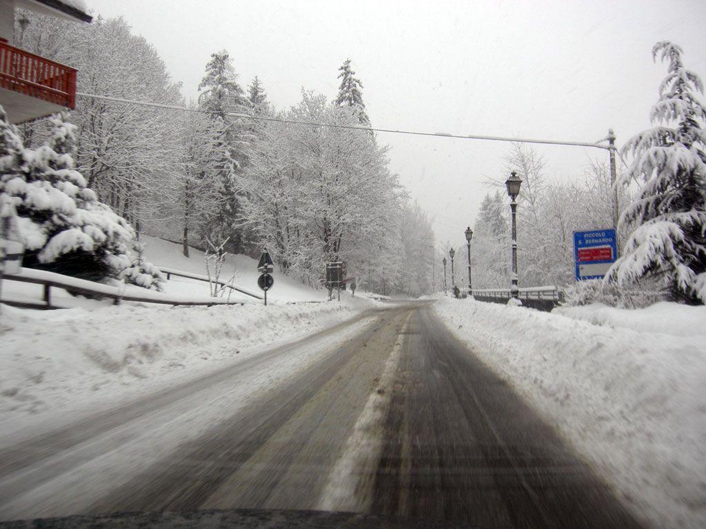 e questa è la strada per arrivare a La Thuile da Pre s.t Didier