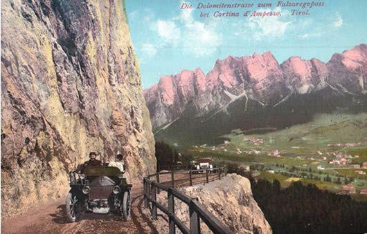Cartolina Strada delle Dolomiti