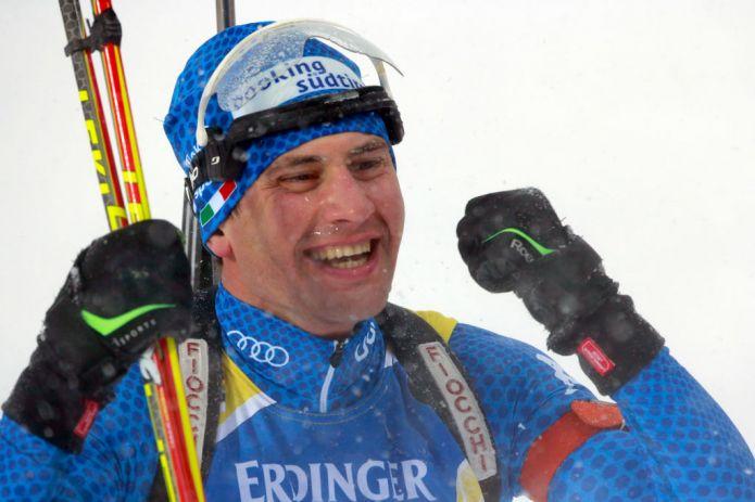 Lukas Hofer: 'Non sono al top ma ho sparato come so'. L'emozione di Windisch
