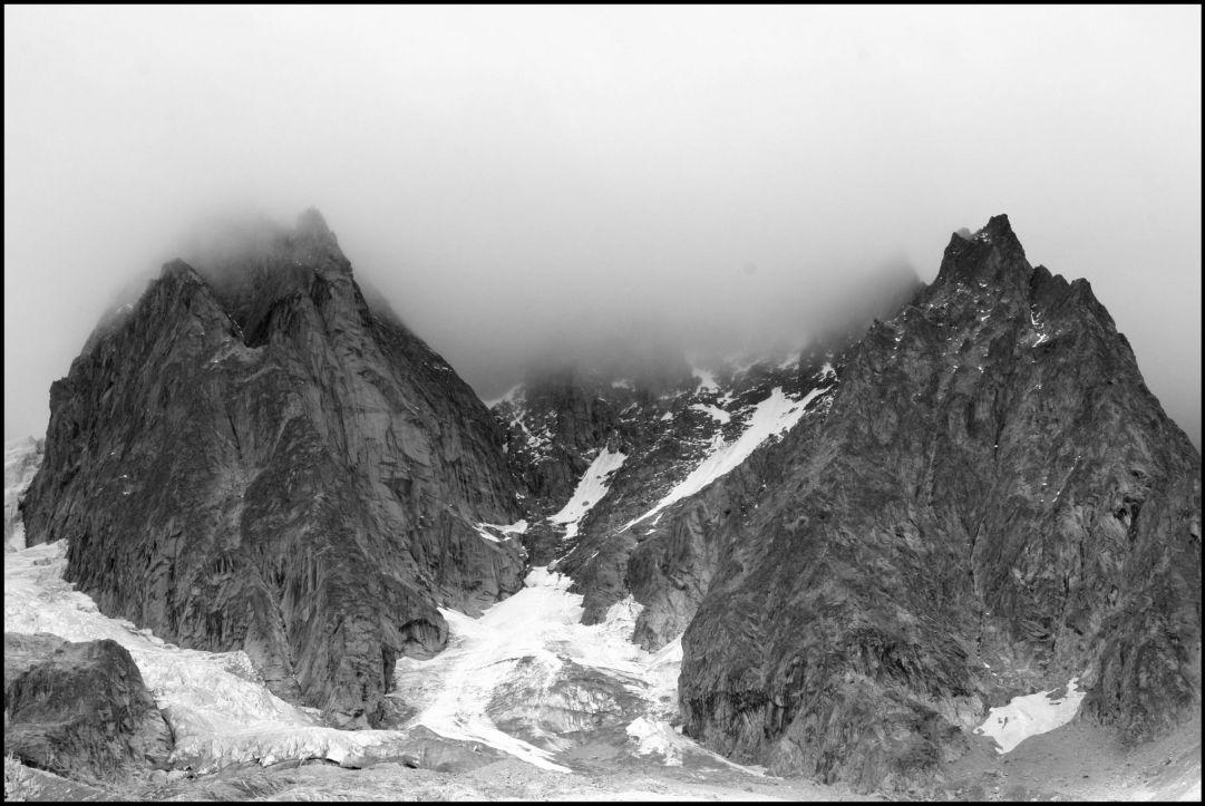 Monte bianco visto dalla valle Ferret