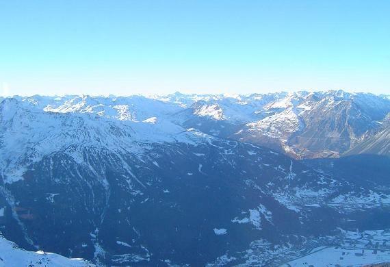 Panorama della Valdisotto da Bormio 3000<br />