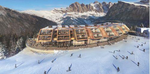 Norman Foster progetta il primo hotel a 7 stelle d'Italia, a Selva Gardena