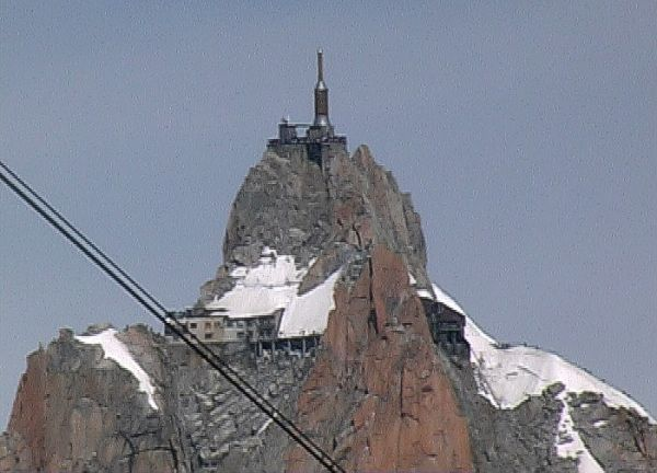 Aiguille du Midi da Punta Helbronner
