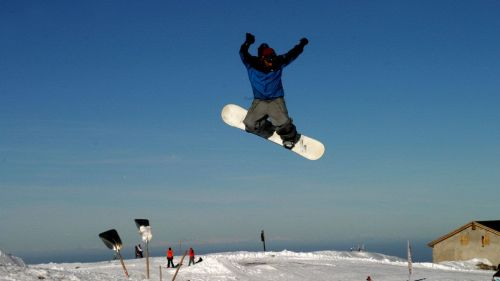 Snow board al Corno alle Scale