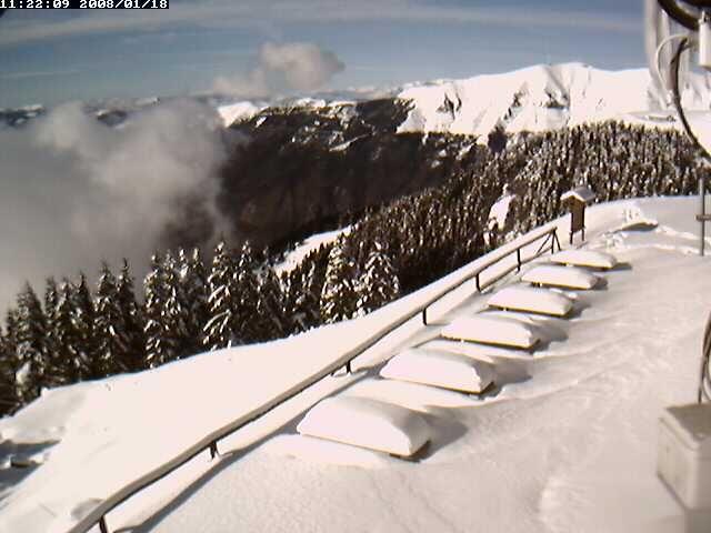 vista del Nevegal col visentin quanta neve