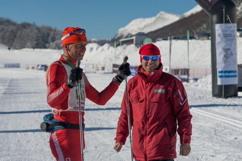 Pablo Valcheff, direttore della Marchablanca, con un atleta