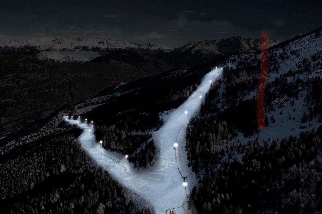 Nella ski area Aprica-Corteno Golgi ci sarà la pista da sci in notturna più lunga d'Europa