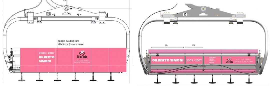Allo Zoncolan una seggiovia rosa dedicata al Giro d'Italia