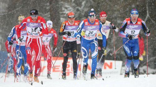 Il gruppo di testa - Tour de Ski 2008