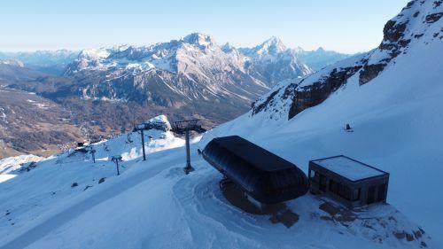 Cortina, nuova seggiovia Pian Ra Valles-Bus di Tofana