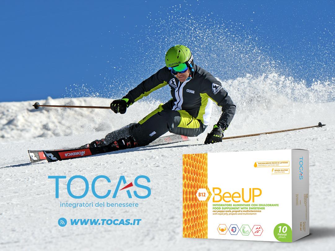 BeeUp, il nuovo integratore della linea Tocas con pappa reale, propoli e multivitaminico. Ideale per tutti gli sportivi!