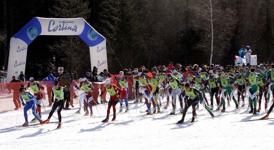 In evidenza con il pettorale n°1 il Norvegese Ole Einar Bjoernadalen 05.02.2011, Photo: COMetaPRess/Brena/Canon