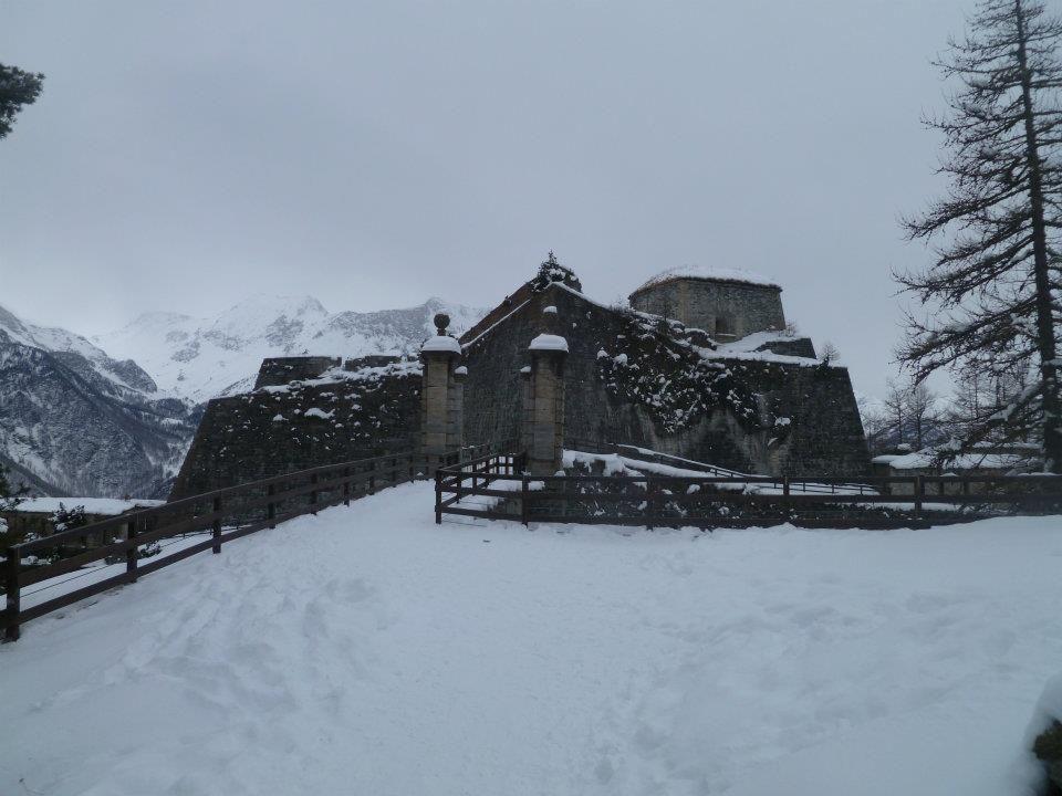 Ponte levatoio Pra Catinat in punta al Forte di Fenestrelle