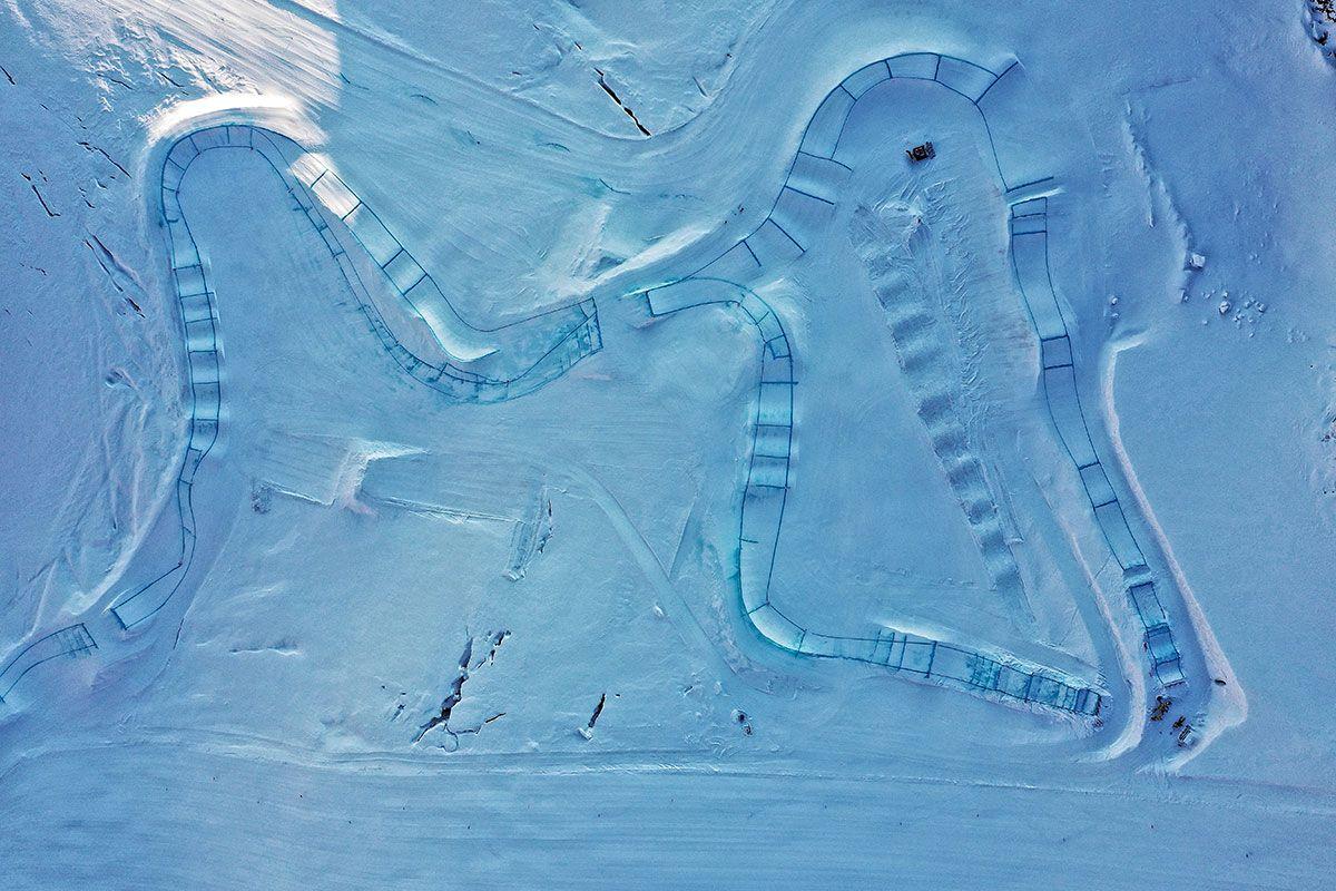 Data immagine: 11 Settembre 2019 Credit: Swiss Skicross Team (foto scattata durante gli allenamenti in ghiacciaio)
