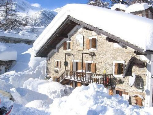 Hotel Chalet del lago a Ceresole Reale, invernale