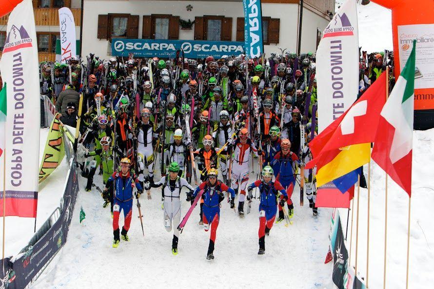 Partenza della Pitturina Ski Race