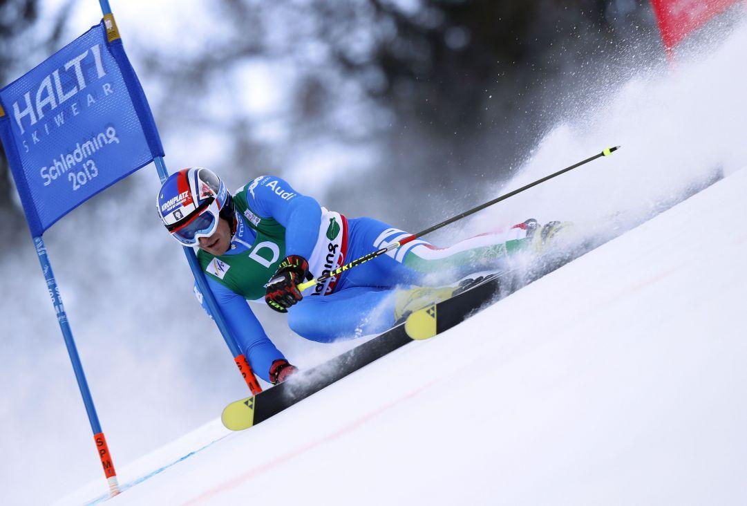 Manfrd Moelgg in slalom gigante  Schladming, Austria, 15 Febraio 2013.  credit: Pentaphoto/Ale Trovati