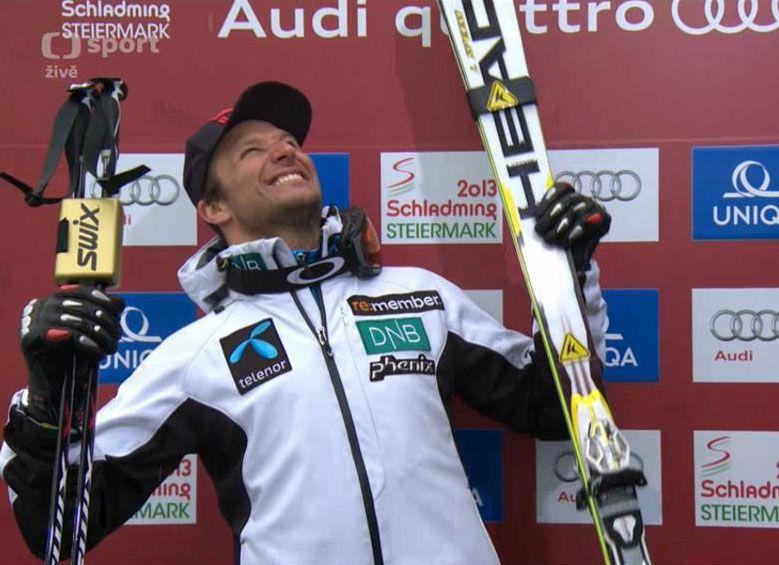 Aksel Lund Svindal World Champion of 2013 in downhill Discesa libera - Schladming 2013 credit: facebook profile Aksel Lund Svindal