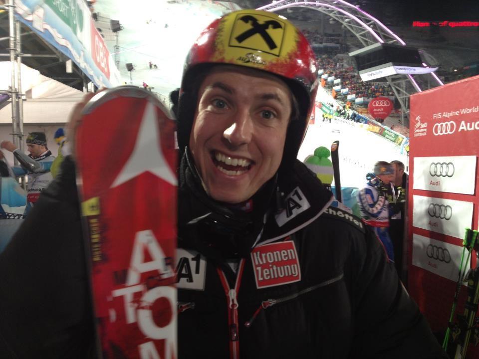 oro nel Team Event a Schladming credit: facebook profile Marcel Hirscher