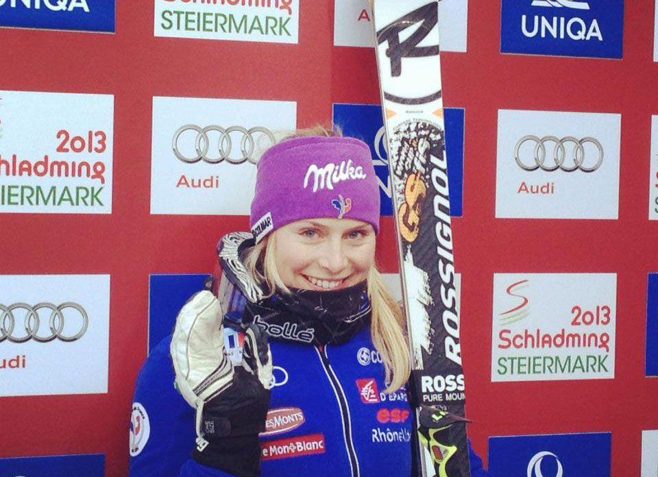 prima al termine della prima manche gigante credit: Facebook FIS alpine