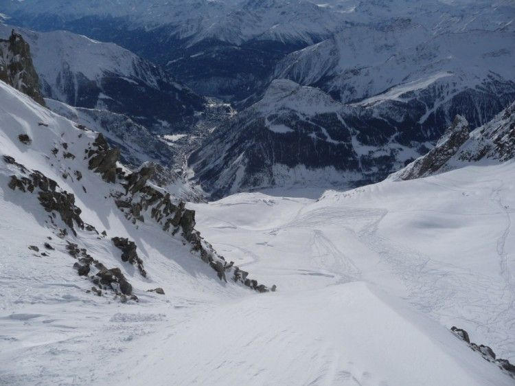 Monte Bianco Le Discese Fuoripista Da Punta Helbronner