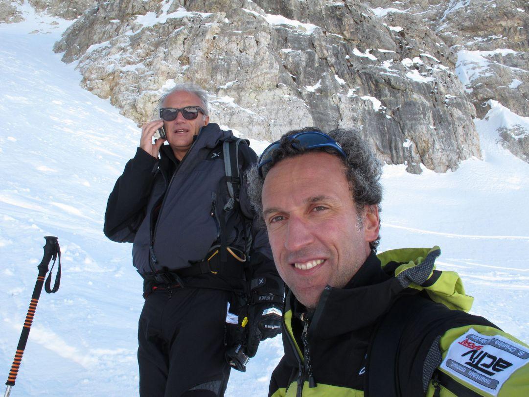 Marco e Gino  in sosta a metà Val Setus autosc. Marco